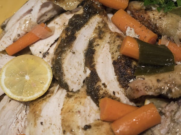 Roasted Chicken, Leeks and Carrots
