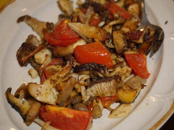 Roasted Mushrooms and Tomatoes