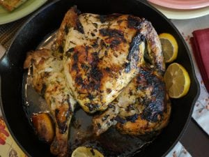 Lavender and Dill Roasted Chicken