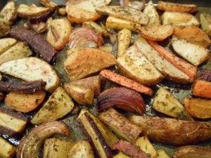 Roasted Veggies with Rosemary, Turmeric, Dill & Oregano