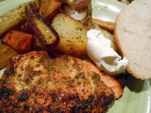 Roasted Salmon: Dijon and Honey