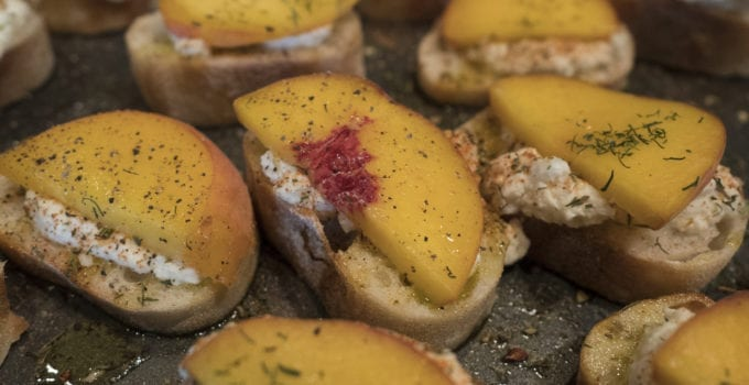 Crostini with Ricotta and Peach