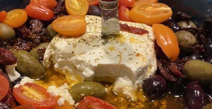 Baked Feta with Greek Olives