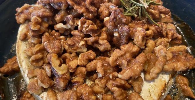 Warm Brie & Candied Walnuts